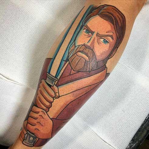 tatuaje de obiwan kenobi
