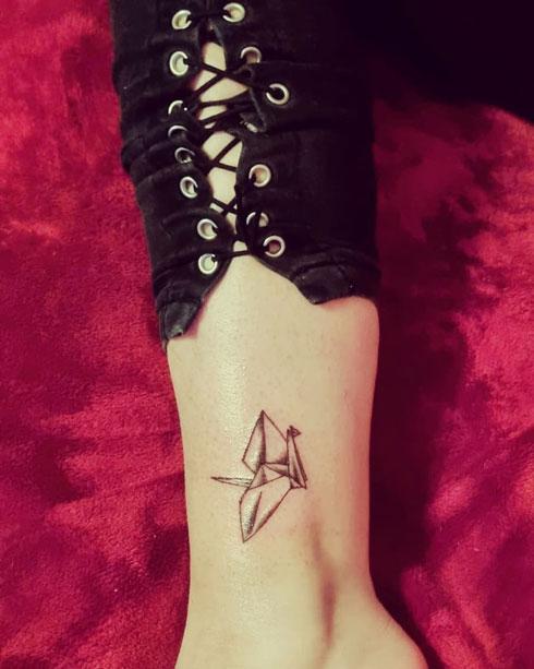 origami grulla tattoo
