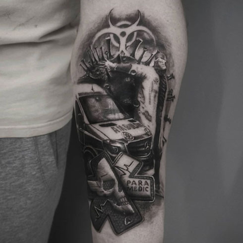 paramedic tatuaje