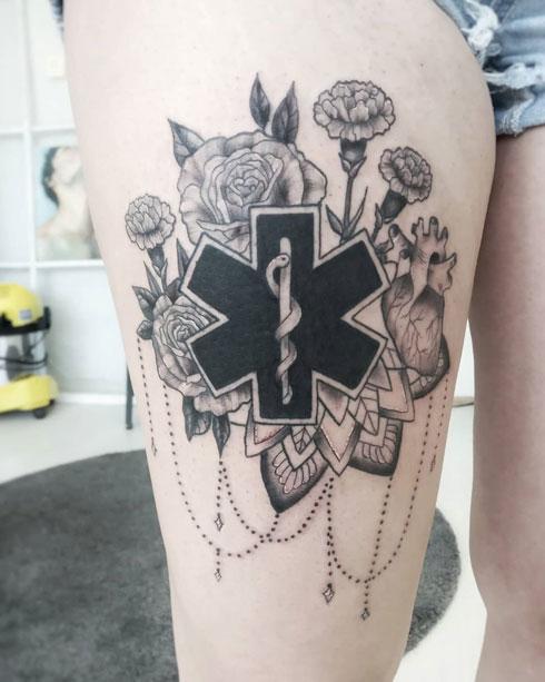 paramedico tatuaje