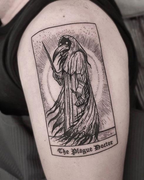 plague doctor tatuaje