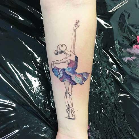 tattoo bailarina y universo