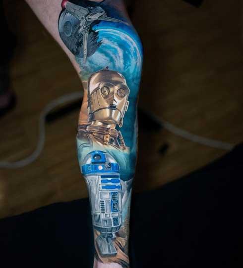 tattoo c3po r2d2