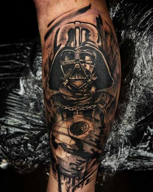 tattoo darth vader y estrella