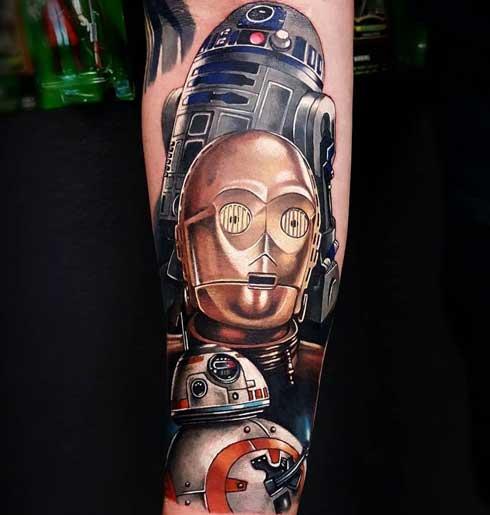 tattoo de droides
