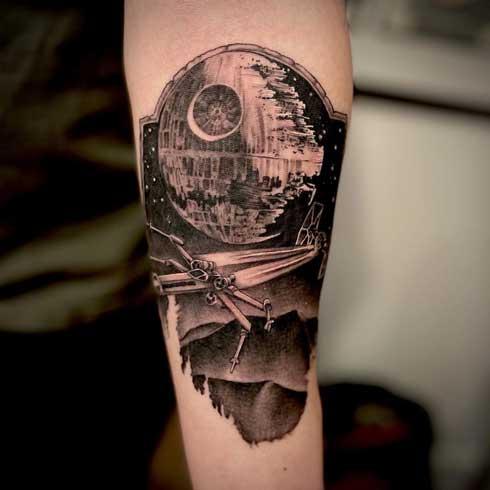 tattoo estrella de la muerte