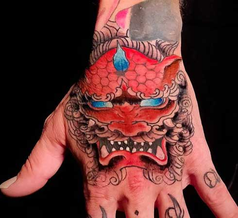 tattoo fu dog a color