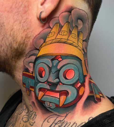 tattoo fullcolor tlaloc