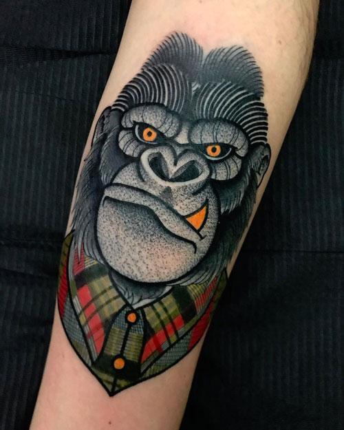 tattoo gorilla