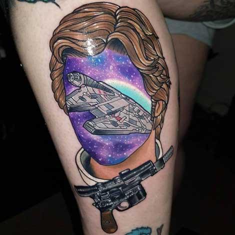 tattoo ilustracion han solo