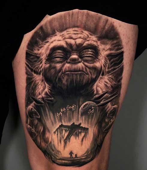 tattoo starwars yoda