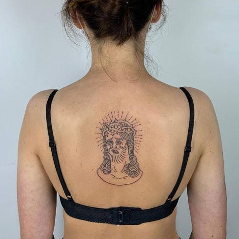 tattoo tradicional con jesus