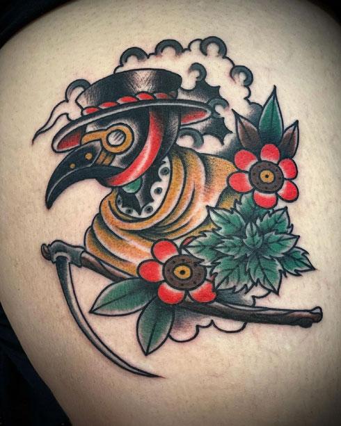 tattoo tradicional de Dr Peste