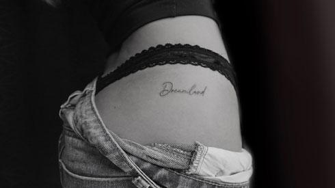 tatuaje con letras