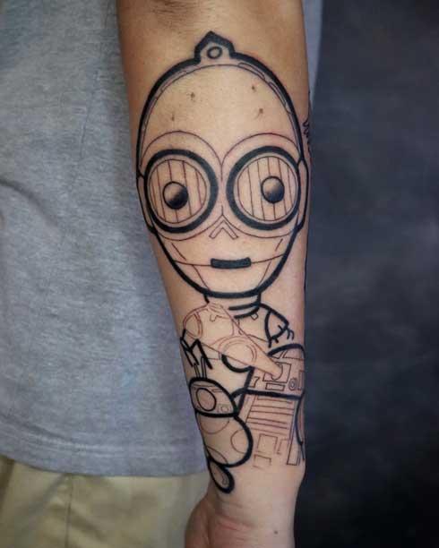 tatuaje de c3po