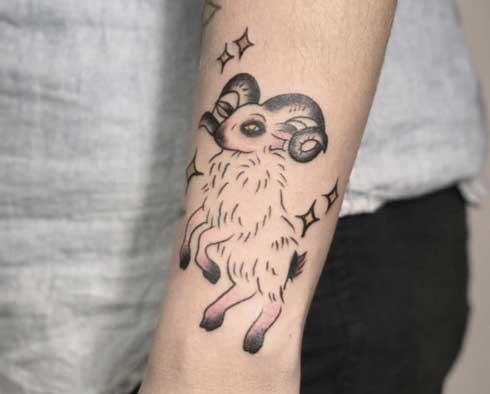 tatuaje de cabras