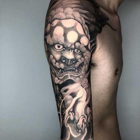 tatuaje de dog foo
