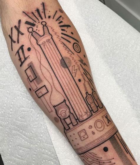 tatuaje de electrico