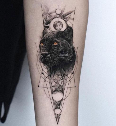 tatuaje de una pantera