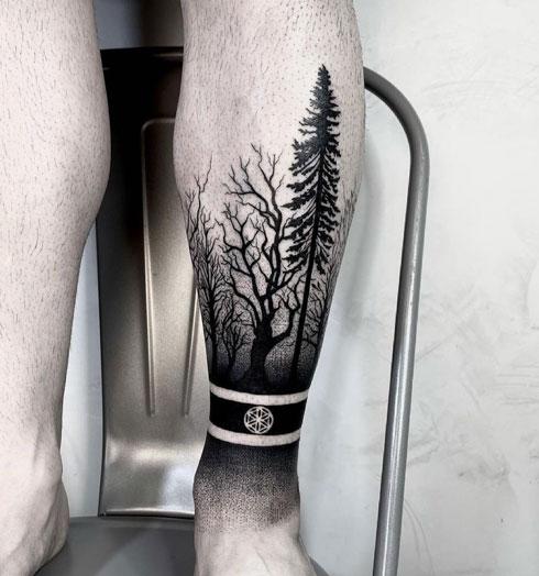 tatuaje forestal