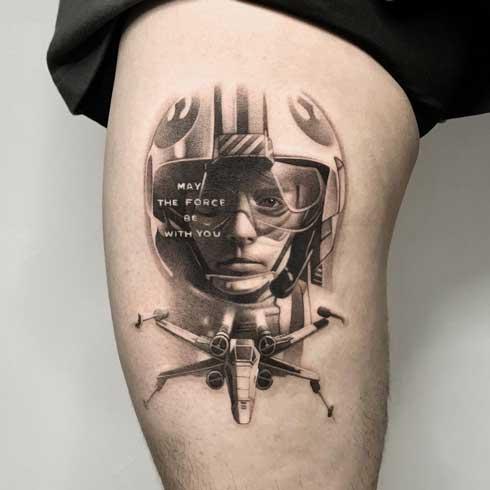 tatuaje luke skywalker
