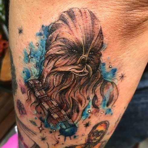 tatuaje star wars chewbacca