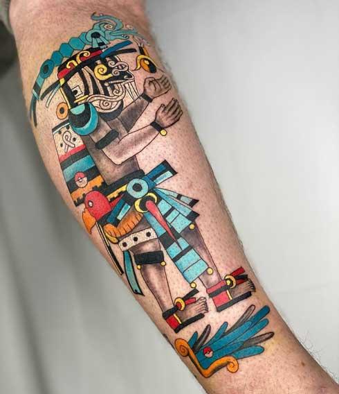 tatuaje tlaloc a color