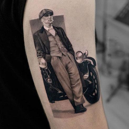 thomas shelby tatuaje realismo