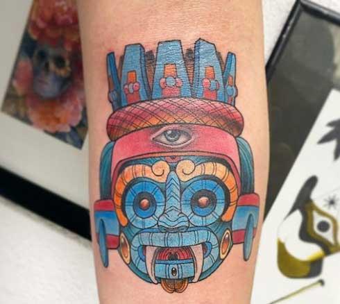 tlaloc tattoo a color