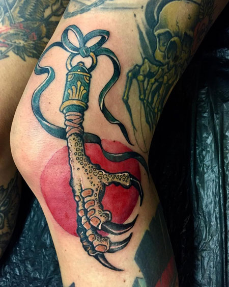 amuleto de suerte tatuaje
