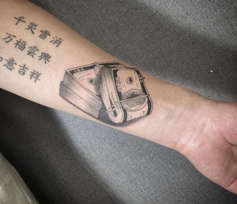 billetes tatuaje