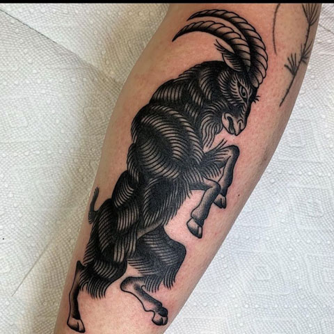 tattoo cabra negra