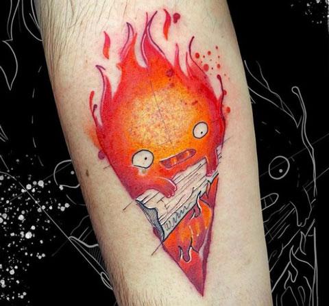 calcifer tatuajes