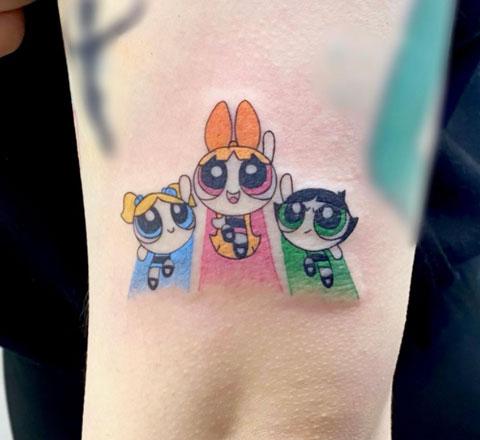 chicas superpoderosas cartoon tatuaje