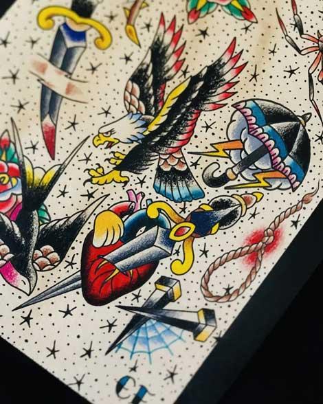 plantilla flash tattoo