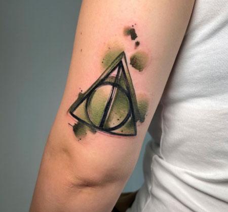 reliquias de la muerte en tatuaje