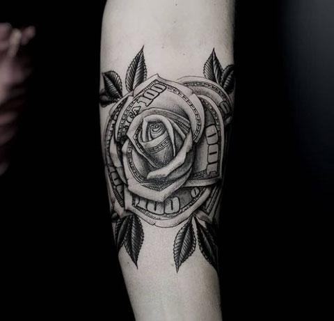 rosa billete tattoo