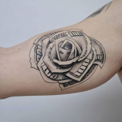rosa dinero tattoo