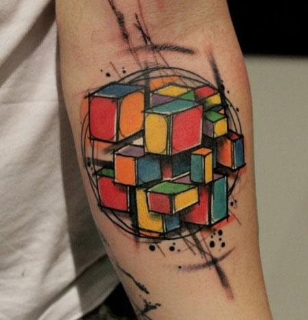 rubik tattoo