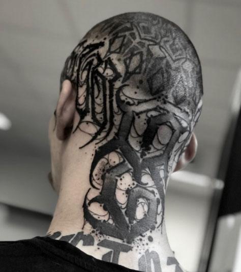 tattoo cabeza completa
