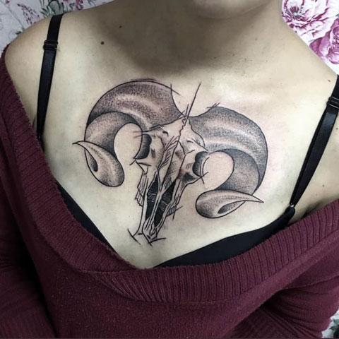 tattoo con cabra