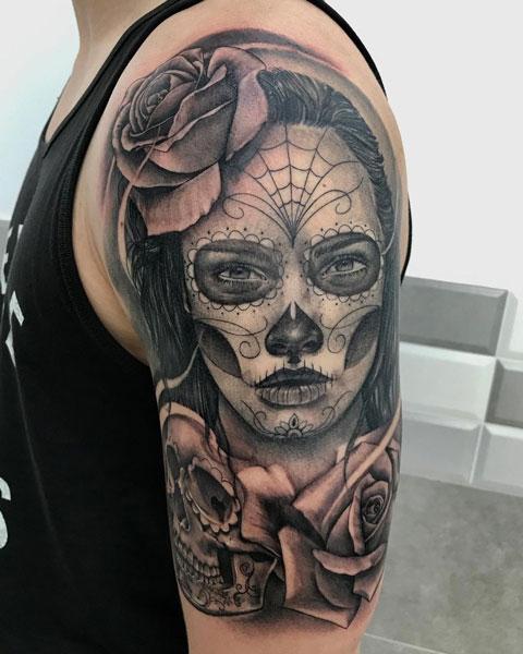 tattoo dia de muertos catrina