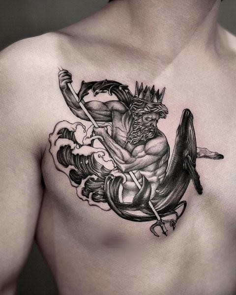 tattoo neptuno