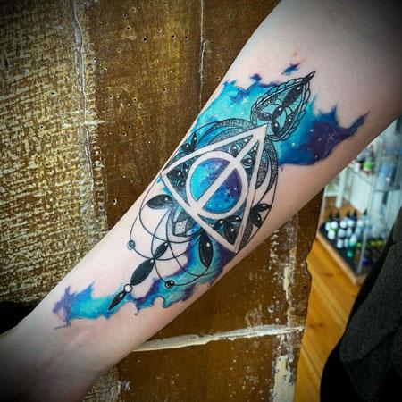 tattoo reliquias de la muerte aquacolor