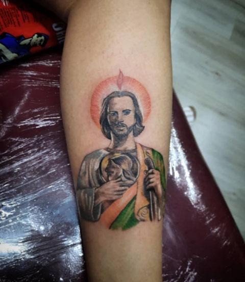 tattoo san judas tadeo a color