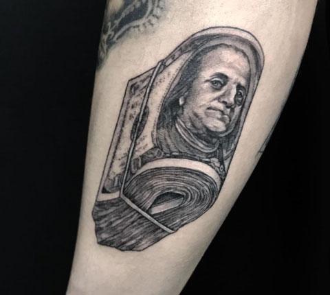 tatuaje billete 100
