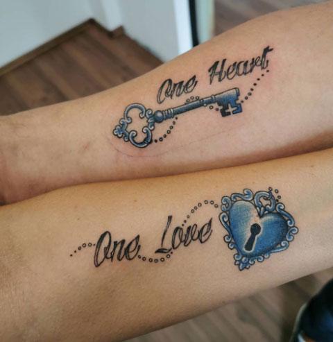 tatuaje candado y llave