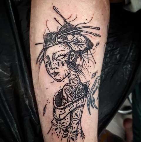 tatuaje dark geisha