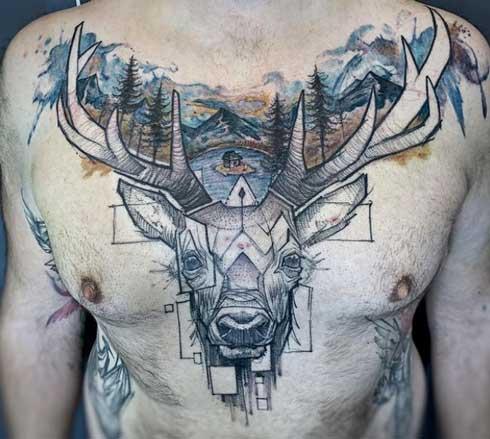 Tatuajes de Ciervo