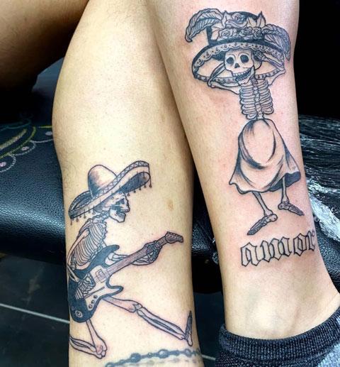 tatuaje de catrina posada